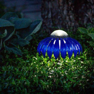 Desert Steel Blue Indigo Set-of-3 Solar lights giveaway! ARV $180!!