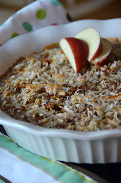 Baked pecan & coconut oatmeal bliss