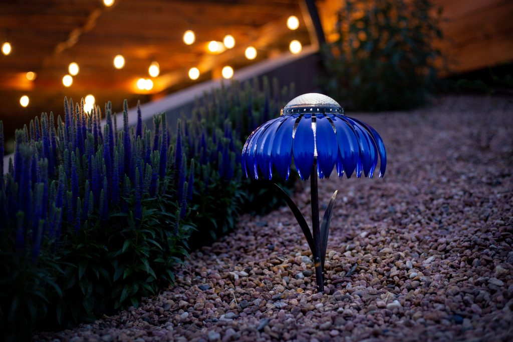 Desert Steel Indigo Solar Light