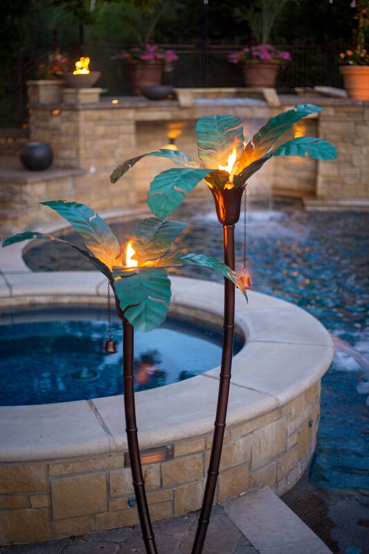 Desert Steel Asher Palm Torches for a Terrific Tropical Giveaway! ARV $368!