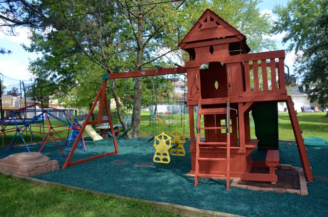 DIY Playground ~ swing set makeover!