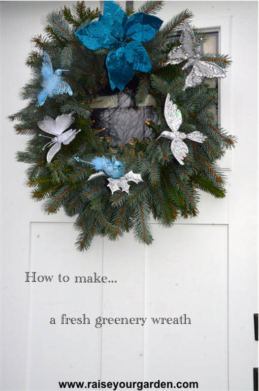 How-to make a fresh wreath for Christmas & beyond!