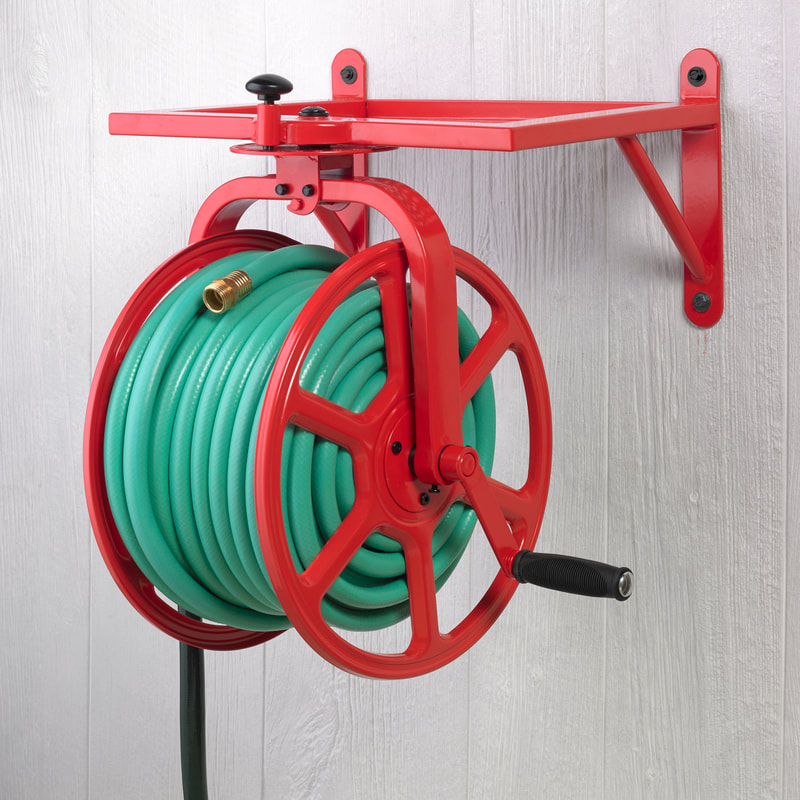 Amp up your style with the Liberty Garden Red Revolution Rotating Hose Reel! #713 ARV $157!