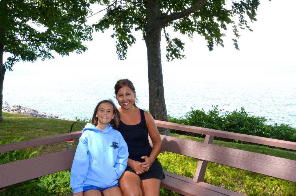 Emma and I enjoying the deck
