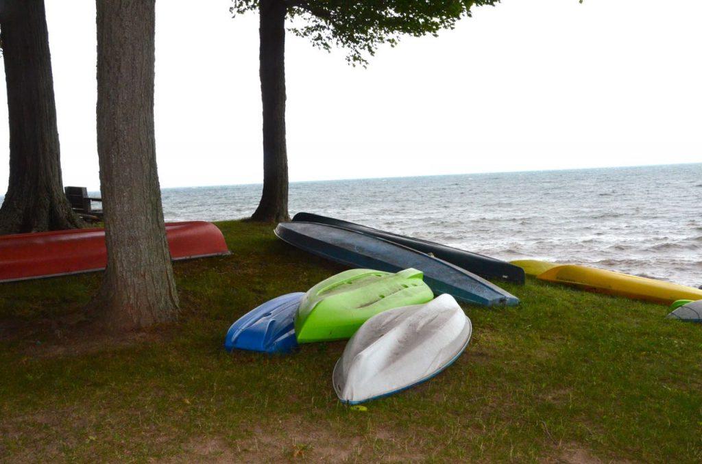 Kayaks over Lake Ontario