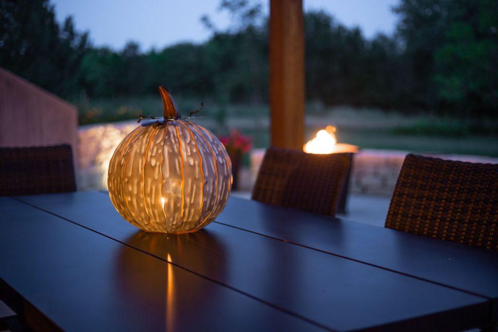 White mocha pumpkin luminiary