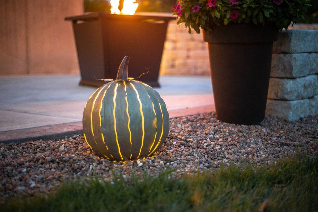 matcha green pumpkin luminiary from Desert Steel