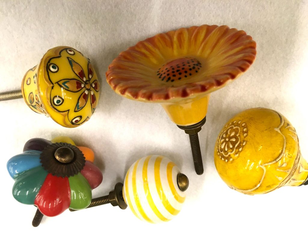 Yellow knobs come in an array of colors!