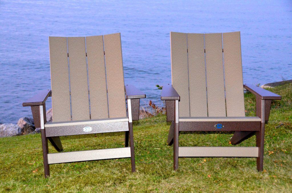 Chocolate and weathewood chairs