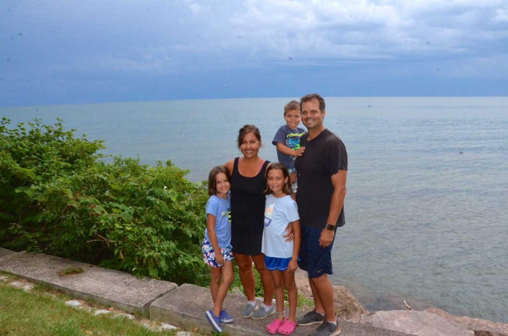 Our family posing over lake Ontario