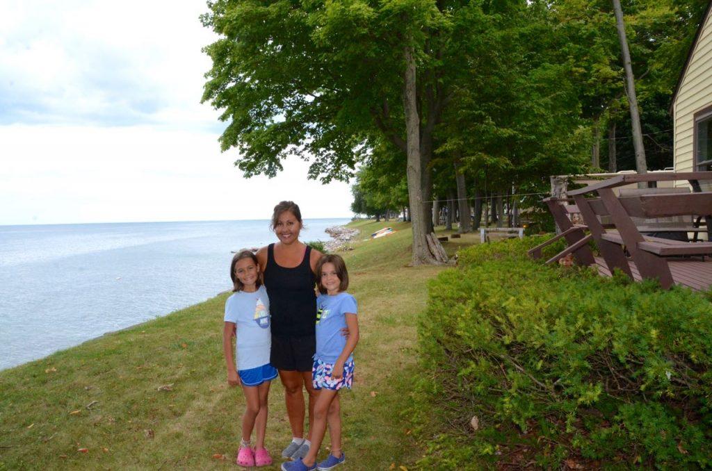 The girls and I enjoying the lake life