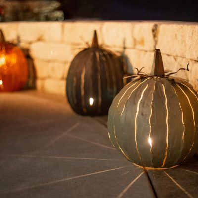 Decorating for fall with Desert Steel pumpkin luminaries! Winner gets 2! (ARV $114) 2 winners~