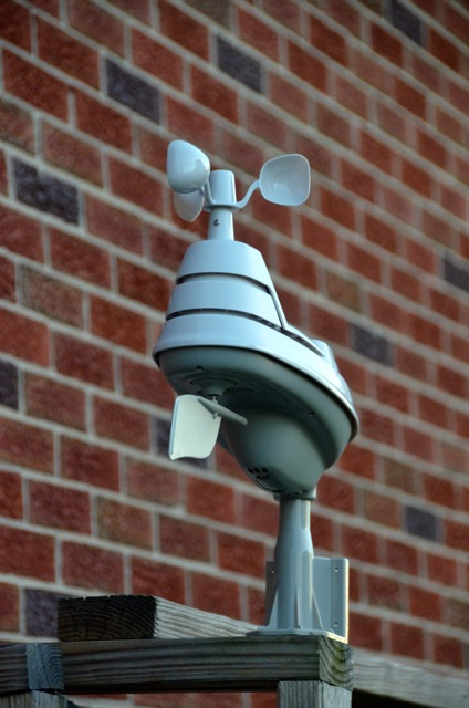 outdoor sensor on wood stacker
