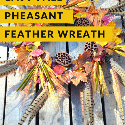 Easy fall pheasant feather wreath