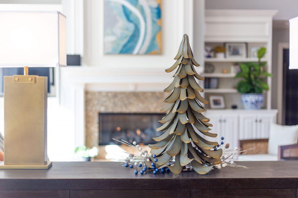 Blue Cedar Atlas Tree from Desert Steel is handmade out of steel sheets.