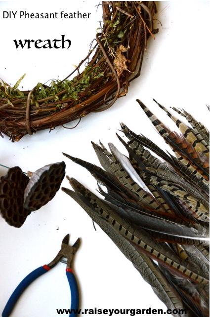 wreath frames to make a fall pheasant feather wreath