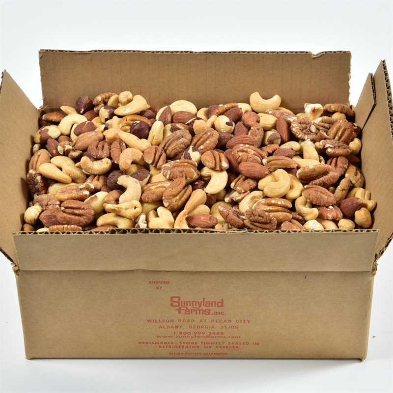 box of Sunnyland Farms nuts
