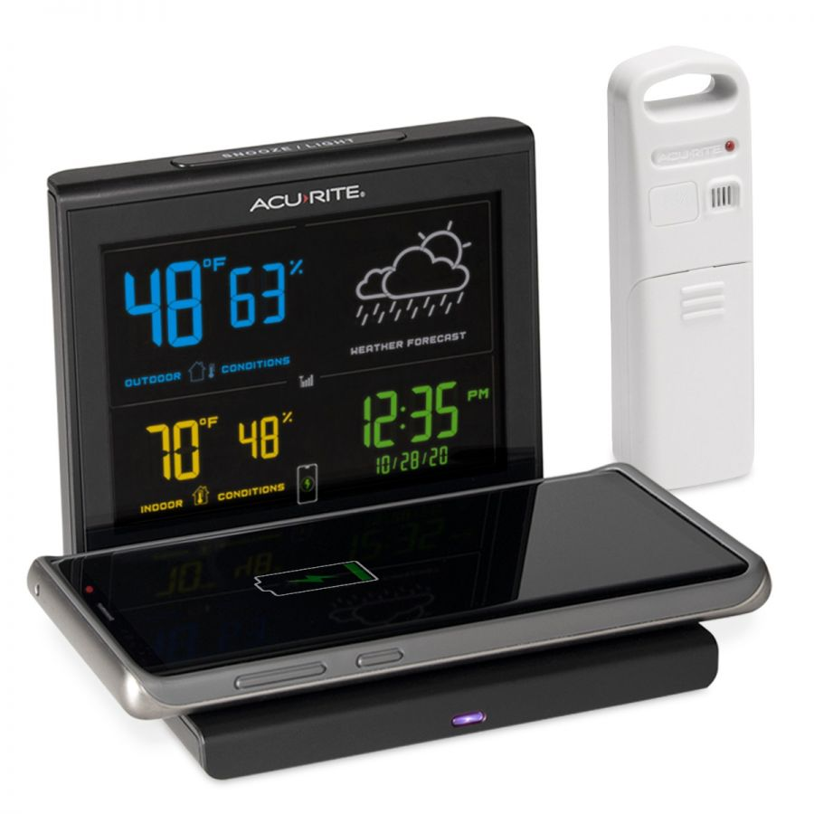 alarm clock and phone charger