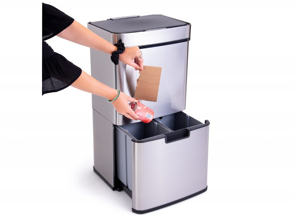 Motion sensor trash can from Displays2go