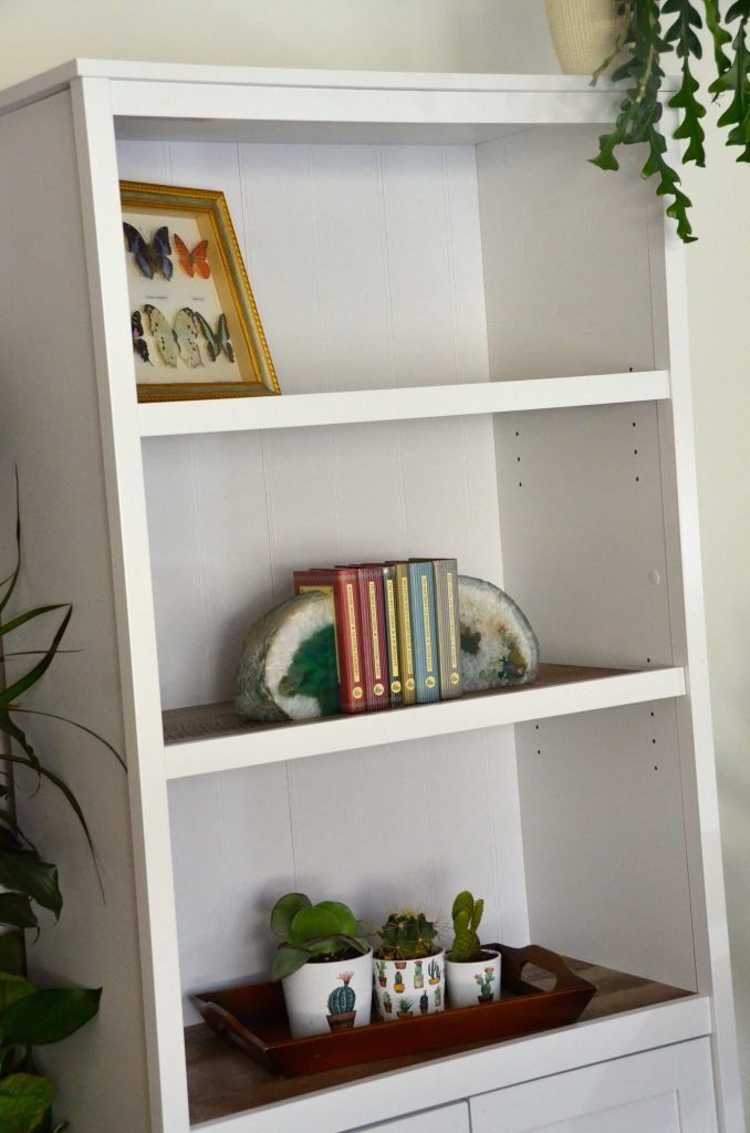 The three top shelves are the perfect storage