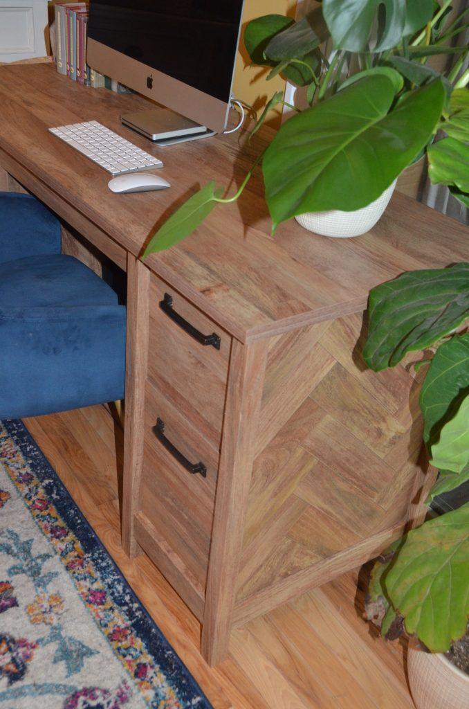 Herringbone is popular in home decor