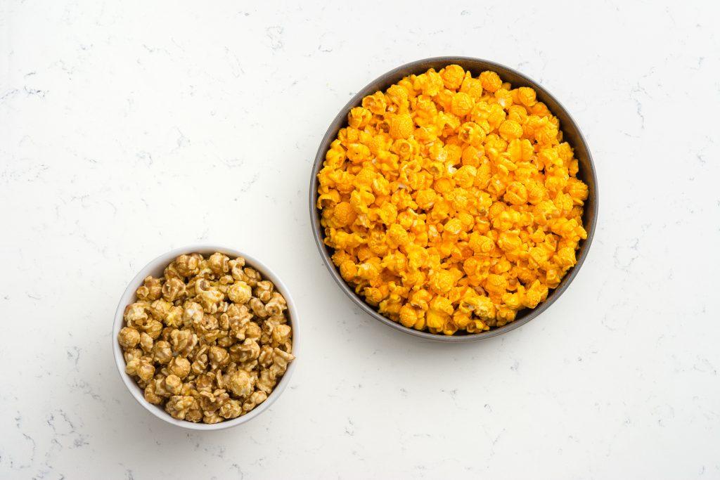 caramel and cheddar popcorn.