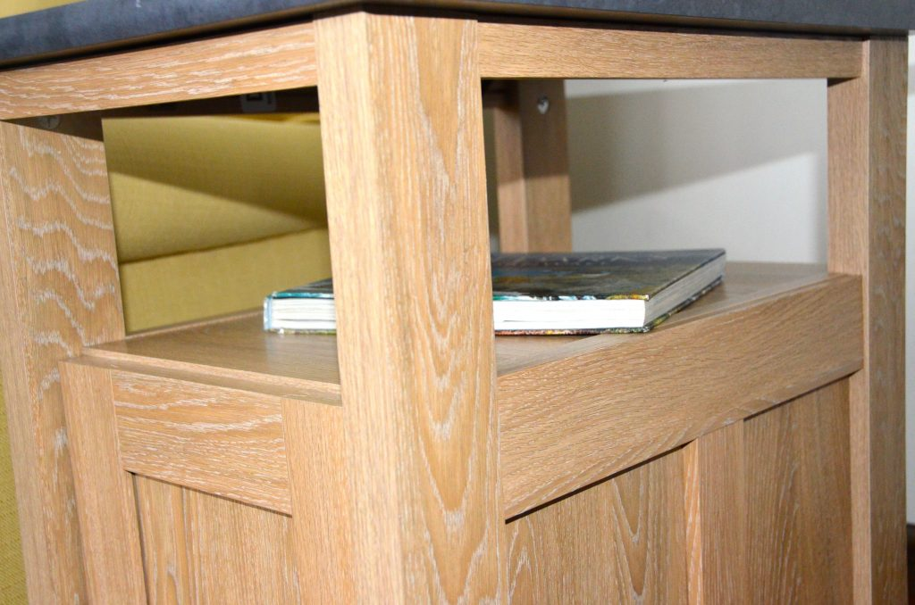 Side table with a storage shelf