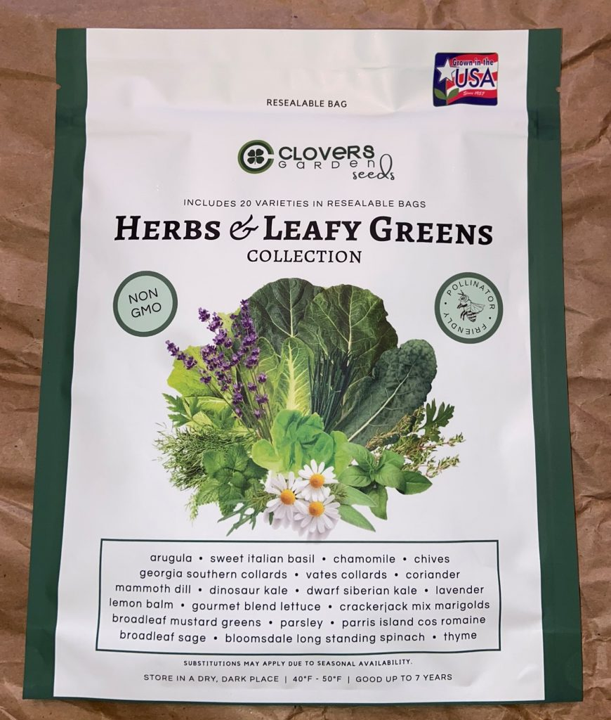 Herbs and leafy greens collection from Clovers Garden