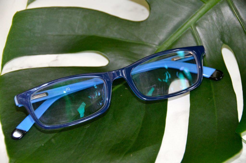Blue prescription glasses