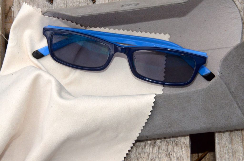 Microfiber cloths getting your glasses clean.