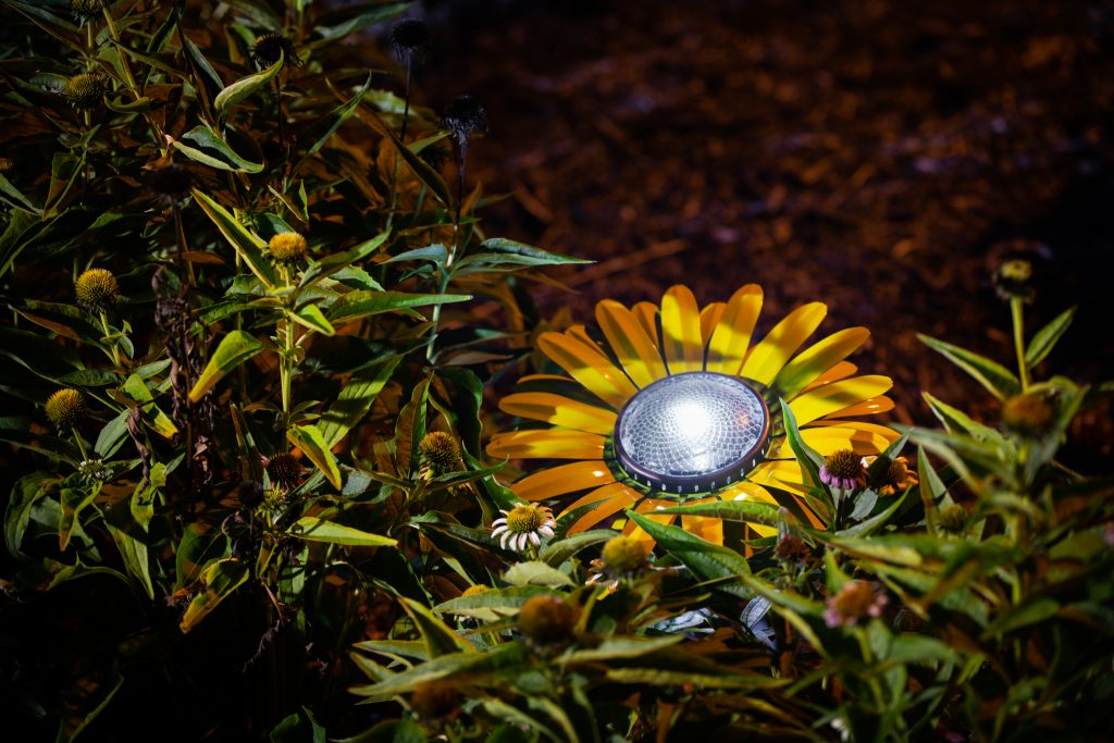 outdoor living with solar lights