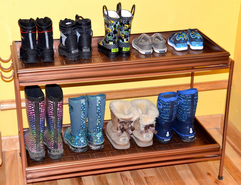 Double boot tray
