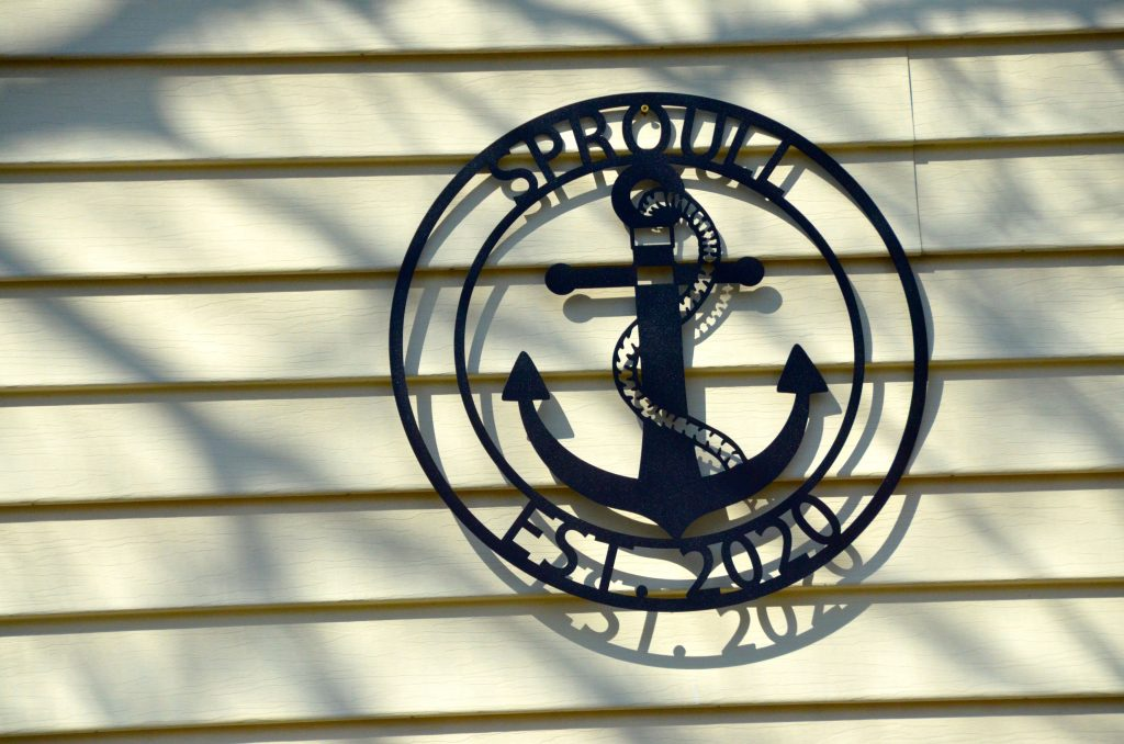 Nautical metal signs