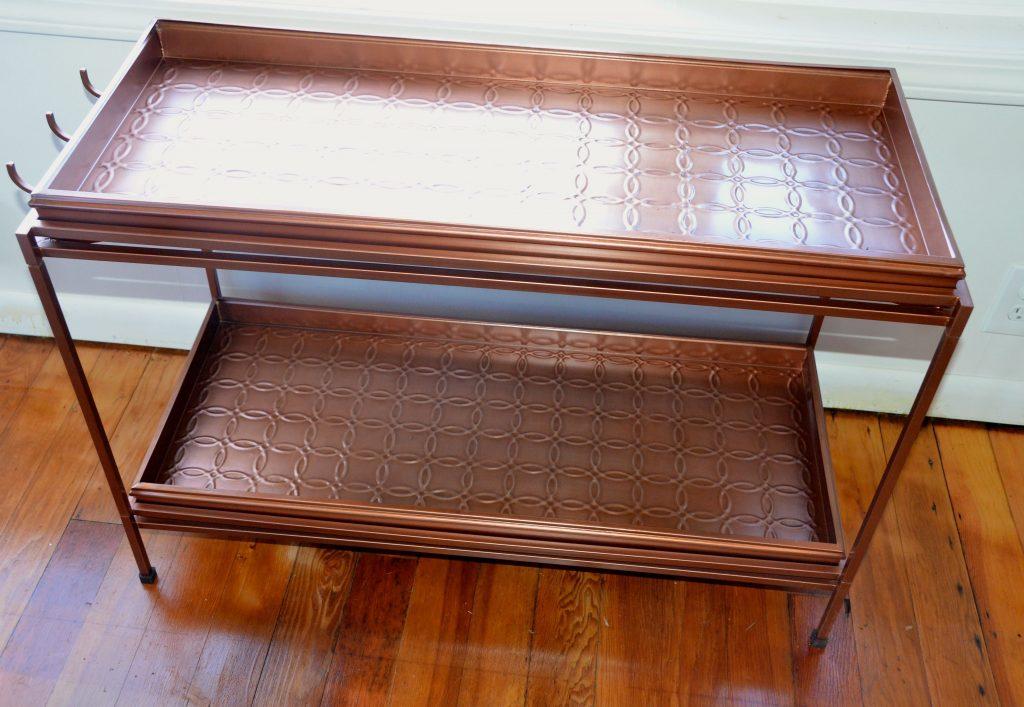 Copper boot tray