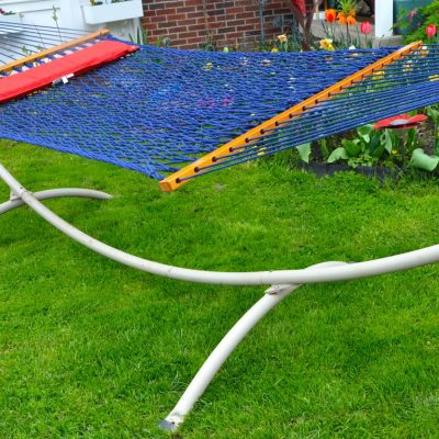 $600+ Nags Head Hammocks giveaway includes rope hammock + steel stand + Sunbrella pillow!