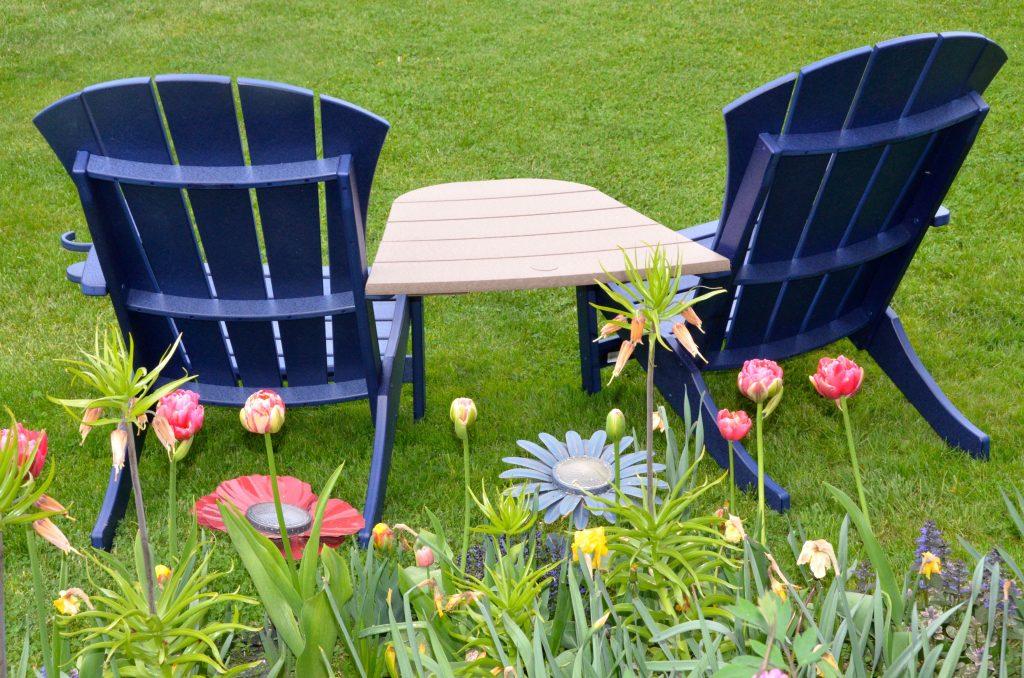 Back of Adirondack chairs