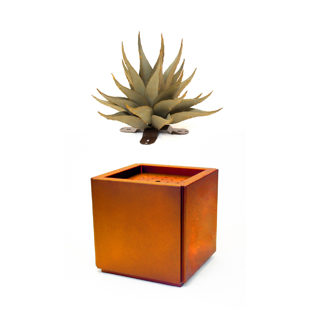How the  metal planter works