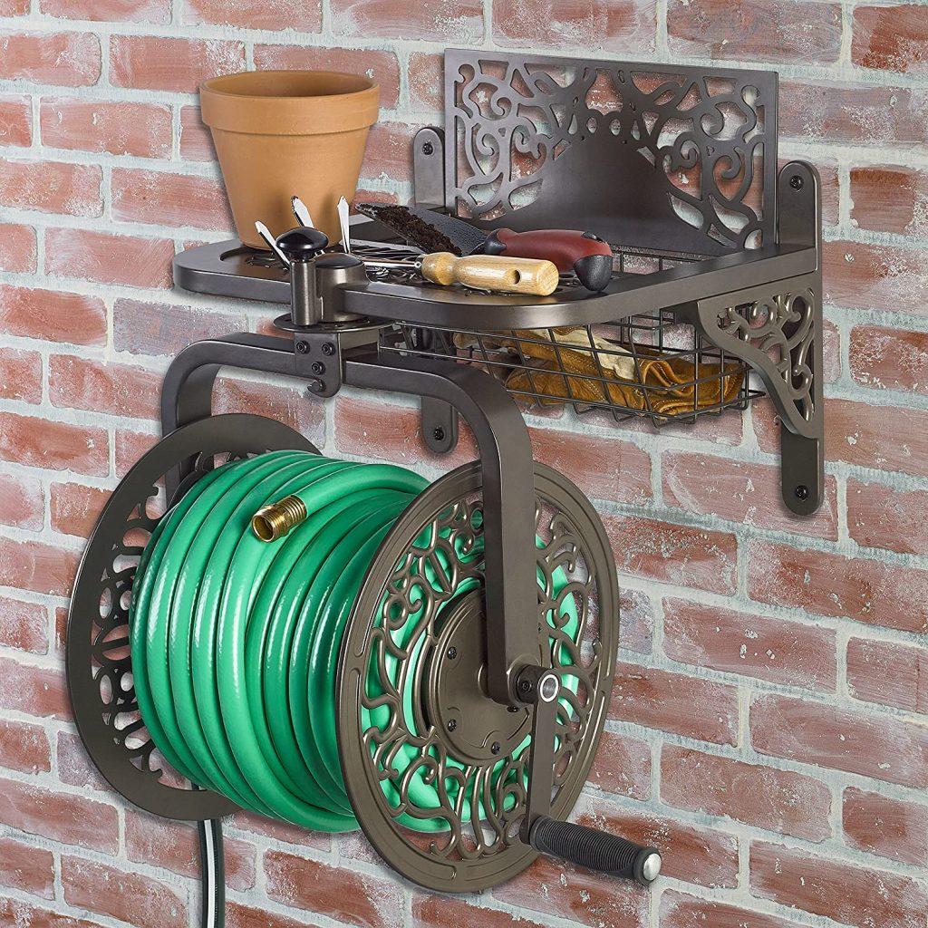 Decorative hose reels