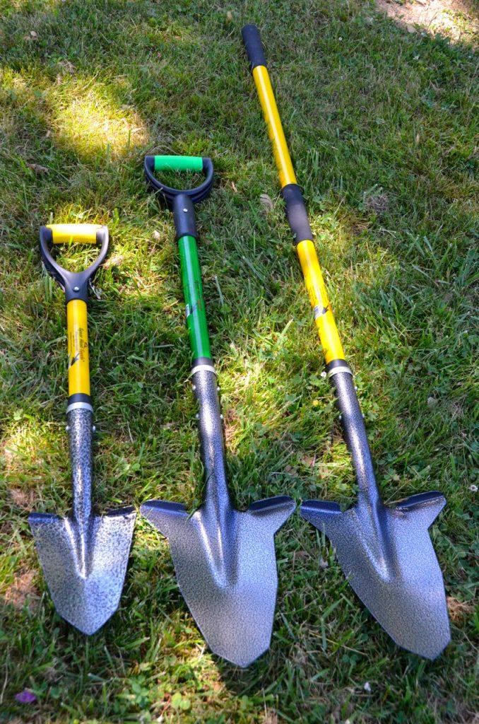 three Spear Head Spades