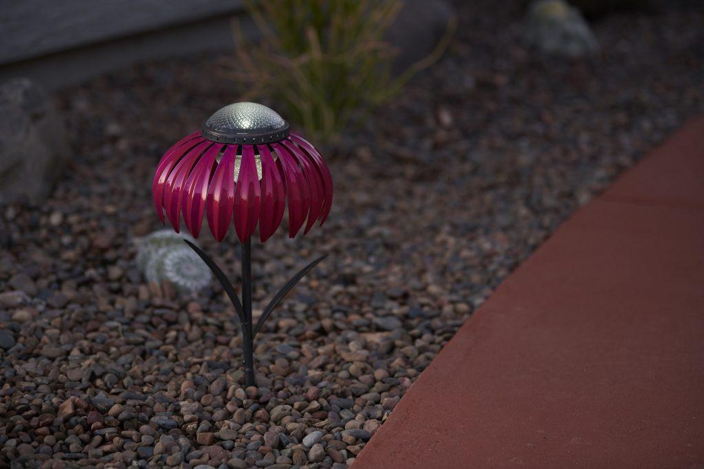 Solar light in gravel