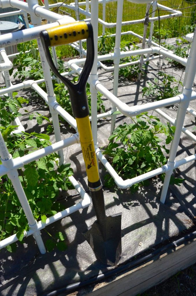 Mini Spear Head Spade is ideal for raised bed garden work