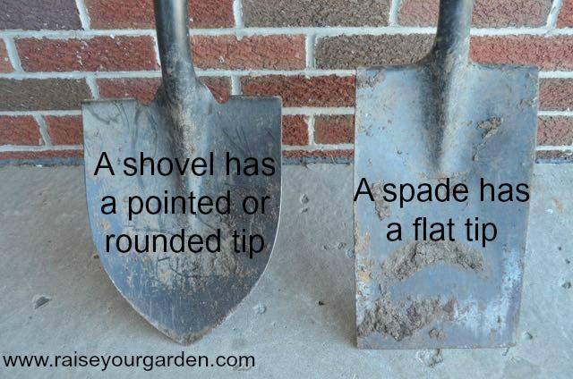 spade versus shovel