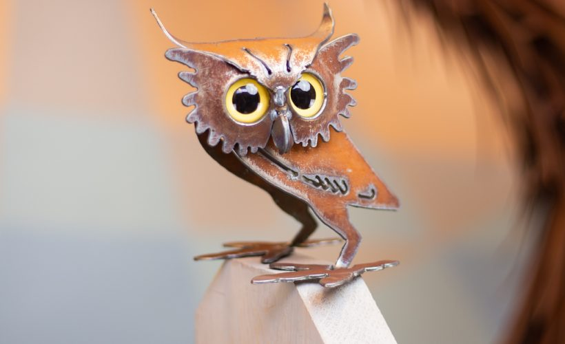 Metal owl from Desert Steel